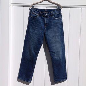 GAP Cheeky Straight dark indigo wash jeans sz 29
